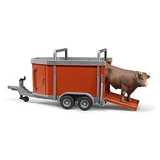 Bruder 02029 - Viehanhänger mit 1 Kuh oder Bulle