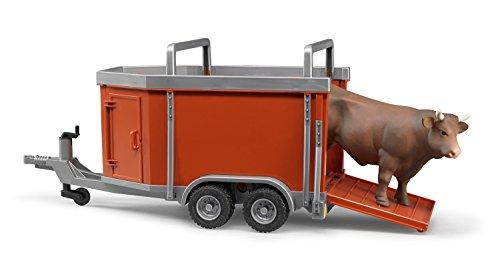 nhänger mit 1 Kuh oder Bulle (Kuh Passt)