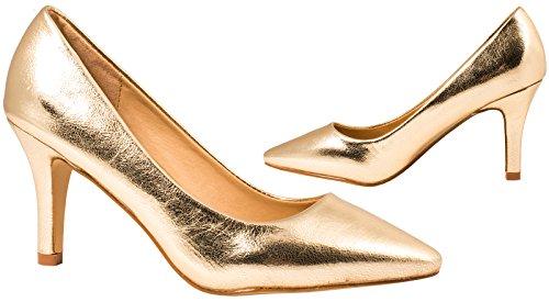 Elara Damen Pumps Spitze High Heels Stilettos Lack| chunkyrayan 1230-a-Go-37 - 6