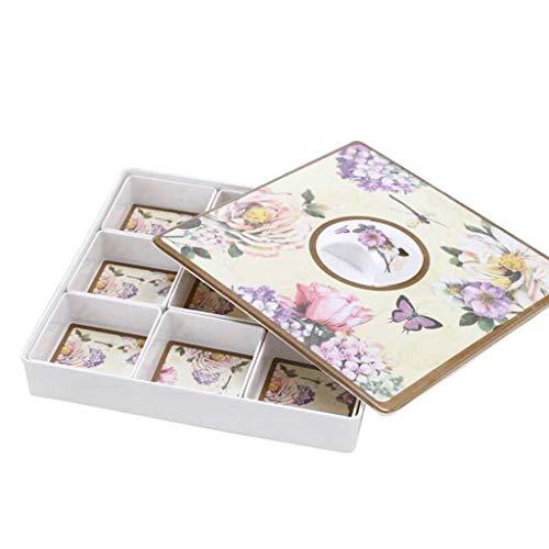 ZXPzZ Multifunktionale Snack Aufbewahrungsbox Teilerbehälter 9 Abschnitt Mit Deckel Trockenfrüchte Box Platz Pralinenschachtel (Farbe : Lila, größe : 31x31cm) (Lila Dip-spaß)