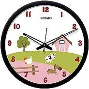 Amazon Brand - Solimo 12-inch Wall Clock - Designer (Silent Movement, Black Frame)