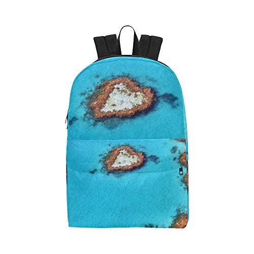 Australien Great Barrier Reef Coral Klassische niedliche Wasserdichte Daypack-Taschen School College Kausal Rucksäcke Rucksäcke Bookbag für Kinder, Frauen Männer Reisen mit Reißverschluss Innentasche -