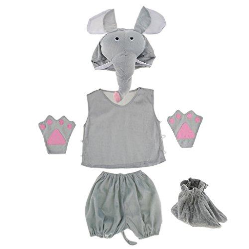 MagiDeal Kinder Tier Kostüm - Elefant (Kinder Elefanten Kostüme)