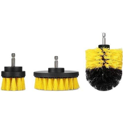 HaiMa 3PCs 2/3,5/4 Zoll Gelb-Elektro-Bohrbürste Tile Scrubber Tub Reinigung Pinsel-YELLOW - 4in Hex Hammer