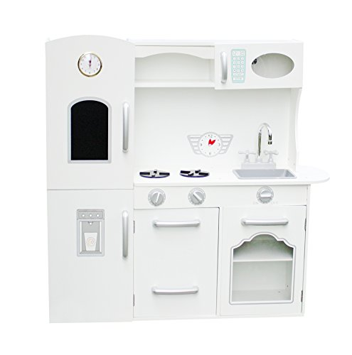 Vintage Large Kids Girls White Wooden Kitchen Toys Pretend role play set - White 102*34*105cm