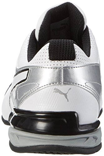 Puma Tazon 6 Fm, Chaussures de Running Compétition Homme Blanc (Puma White-puma Silver-puma Black 01)
