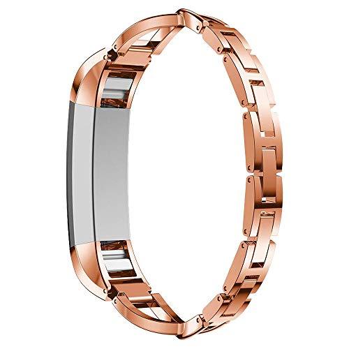 (autulet für Fitbit alta/Fitbit alta hr Bänder für Fitbit alta hr Roségold Armbänder Metallersatzbänder Zubehör Riemen Armbandarmband Handgelenkbänder für ausgefallene Fitbit alta hr Bands)
