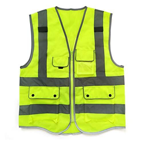 FELICIPP Reflektierende Weste Warnweste Fluoreszierender Gurt Gute Sichtbarkeit Arbeit Witze Fahrrad Motorrad Verkehrsschutz Nachtwächter Sicherheit Beste Tasche/induzierte Fluoreszierende Reflexion
