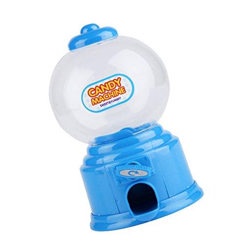 Kinder Weiß Süßigkeiten Maschine Piggy Gumball Spar Münzbehälter Retro Süßigkeiten Mini - Blau - Maschinen Gumball