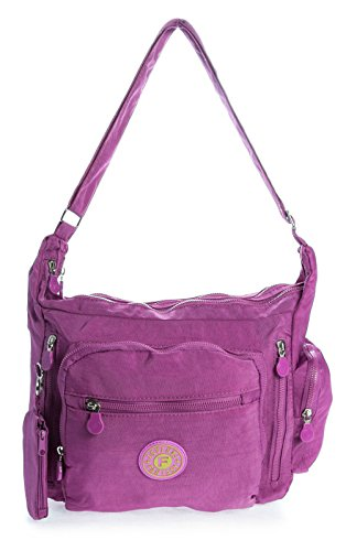 Big Handbag Shop, Borsa a tracolla donna One Orchid Purple