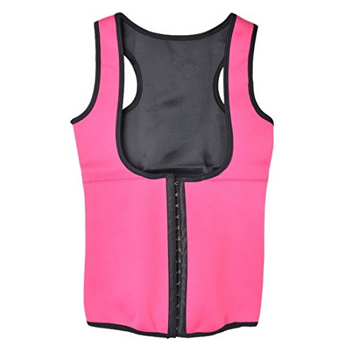 Wenyujh Damen Frauen Sport Korsage Korsett Unterbrust Taille Training Shapewear Bodytraining Hot Pink