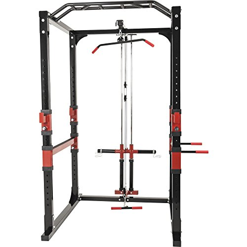 Power Lifting Station Rack Cage Käfig Home Gym inkl. Latzug Gorilla Sports