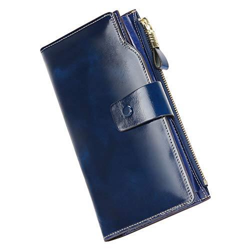 Geldbörse Damen echtes Leder Portemonnaie Damen Luxus Geldbörse -