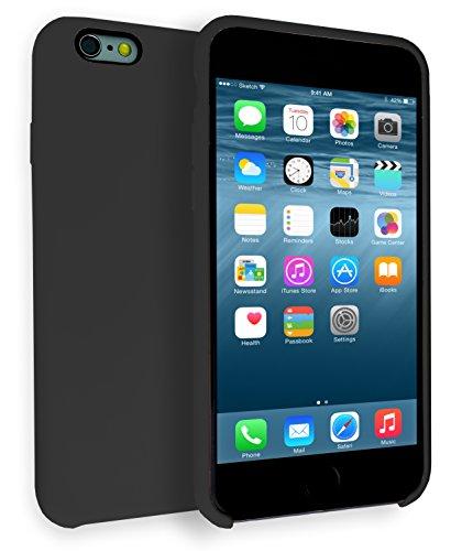 MyGadget TPU Silikon Hülle für - Apple iPhone 6 / 6s - ultra dünn (1 mm) inkl. Staubschutz Gummi Schutzhülle Cover Crystal Case Silikonhülle in Grau Gummiert Schwarz