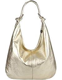 3143d6c7a4503f OBC Made in Italy Damen XXL Ledertasche Leder Wildleder Shopper Tasche  Schultertasche Umhängetasche Hobo-Bag