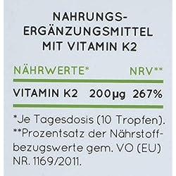 Vitamin K2 MK-7 Tropfen 200 µg (mcg) - Aktionspreis - 50ml mit 1700 Tropfen. Premiumqualität: VitaMK7 von Gnosis, 99% All Trans. Flüssig, hochdosiert, vegan, hergestellt in Deutschland