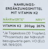 Vitamin K2 MK-7-200µg - 1700 Tropfen in 50ml. Höchster All-Trans
