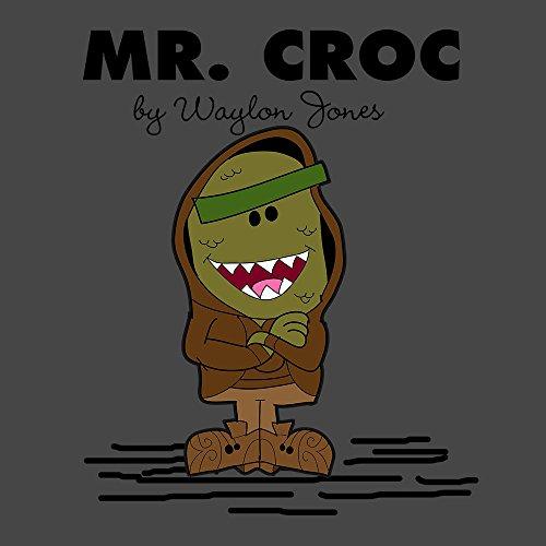 Mr Croc By Waylon Jones Killer Croc Suicide Squad Mr Men Women's T-Shirt Charcoal