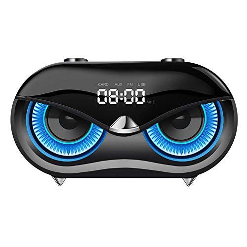 Mini Haut-Parleur Bluetooth 4.2 Portable 25w du Son BoîTe à Musique SuppléMentaire Basse Radio FM + RéVeil + 10 Heures De Lecture Compatible avec Les Smartphones Tablettes Ordinateurs Bureau Et Plus
