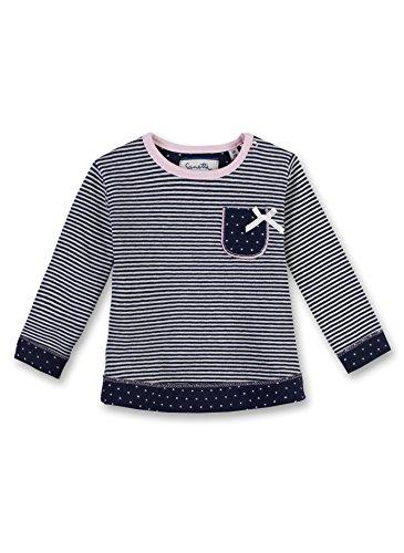 Sanetta Baby-Mädchen Sweatshirt 906343, Blau (Deep Blue 5993), 68