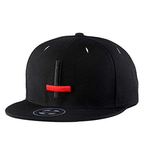 fangkuai-hat Stickerei Kreuz Snapback Cap Damen Herren Draußen Hip Hop Basecap Mütze Kappe, Schwarz