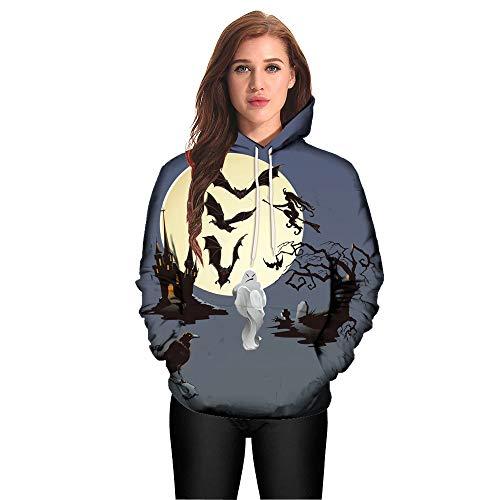 Langarm Frauen Kapuzenpullis Damen Hoodies Langarm Kapuzenpulli Sweatshirt PulloverFrauen Frauen Halloween Kürbis Teufel Sweatshirt Pullover Tops Hoodie Shirt Plus Größe Eva