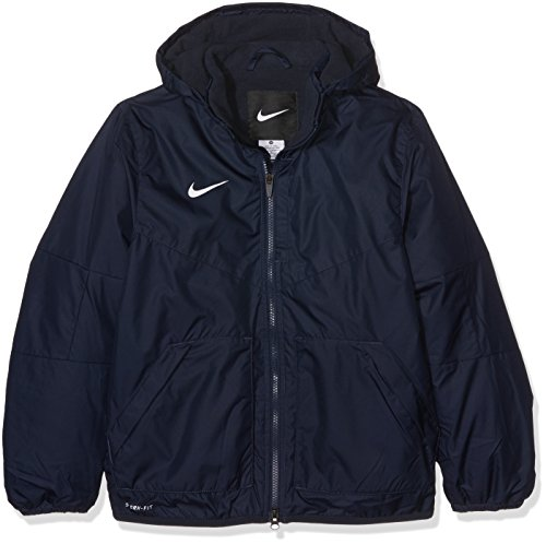 Nike Kinder Jacke Team Fall Jacket, Dark Obsidian/White, M (Jacke Winter Kinder Nike)