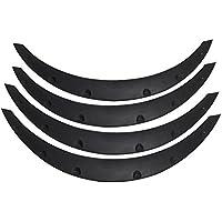 38mm DIYARTS Car Wheel Fender Universal Auto Arch Guard Flexible Extension Wheel Eyebrow Trim Rubber Protector Black
