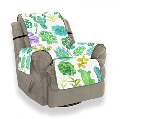 JOCHUAN Schöne grüne Aquarell Oase Kaktus Sofa Kissen Couch Stuhl Schonbezug Stuhl Schonbezug Möbel Beschützer für Haustiere, Kinder, Katzen, Sofa