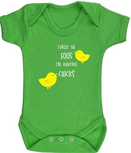 hippowarehouse vergessen die Eier I 'm Jagd Küken Ostern Baby Weste Body (kurzärmlig) Jungen Mädchen, Grün, 3115-BV-GR-0-3