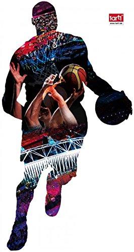 1art1 63584 Basketball - Spieler, Wurf Wand-Tattoo Aufkleber Poster-Sticker 60 x 35 cm