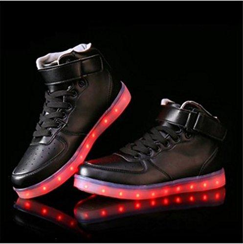 (Present:kleines Handtuch)JUNGLEST® Kinder Jungen Mädchen LED Schuhe Leuchtend Sneaker Farbwechsel Fluorescence Turnschuhe Sportsschu c10