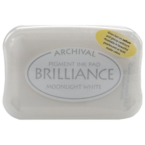 Tsukineko Brilliance Tinte Pad, Moonlight weiß -