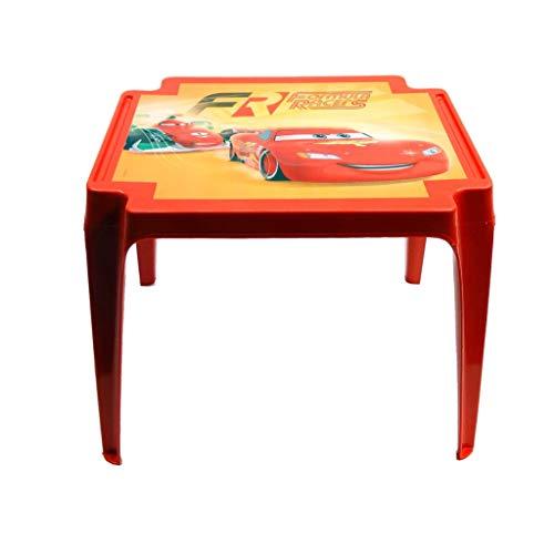 PROGARDEN 945 Cars Table pour Enfant Motif Cars, Rouge, 50 x 55 x 45 cm
