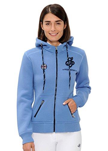 SPOOKS Damen Sweatjacke, Kapuzen-Jacke Mädchen Kinder Frauen - Awa Jacket Blue L