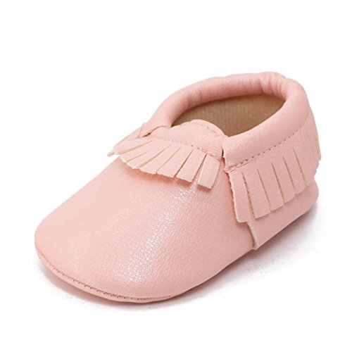 BZLine® Weich Baby Schuhe rutschfeste Baumwolle Infant Neugeborenen Babyschuhe Pink