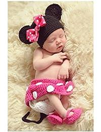 Mariposa de oro @ 100 Días Bebé Hecho a Mano Ropa Ropa Bebé Ropa Mickey Cuatro Conjuntos de Todo el año Puede ser Utilizado