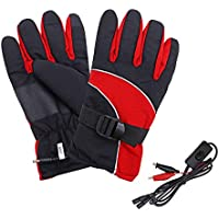 YTFU - Guantes térmicos eléctricos para hombre y mujer, kit de guantes térmicos térmicos, calentados para invierno, calentadores de manos para motociclismo al aire libre