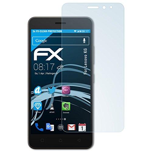 atFolix Schutzfolie kompatibel mit Lenovo K6 Folie, ultraklare FX Bildschirmschutzfolie (3X)