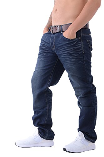 Crosshatch men's straight leg je...