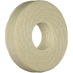 Beadaholique Encerado Lino irlandés Collar o anudar Cable 1 mm, 50 m, Color Beige