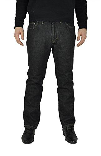 a1ee3d23073620 Herren 5 Pocket Jeans in Übergrößen mit Stretch Bund in Schwarz oder Blau  (15204100)