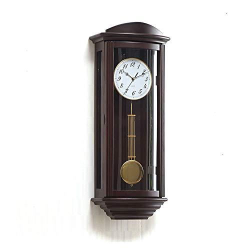 Pendel-Wanduhr, antike hängende Uhren mit Westminster Chime Wohnzimmer Nicht Ticken Finish Holz Wanduhren Quarz Uhren Geschenk (70cm)