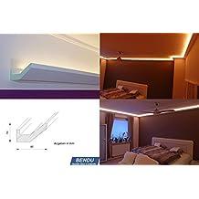 bendu moderne und klassische led stuckleisten bzw lichtvouten fr indirekte beleuchtung aus hartschaum dbml - Indirekte Beleuchtung Laden