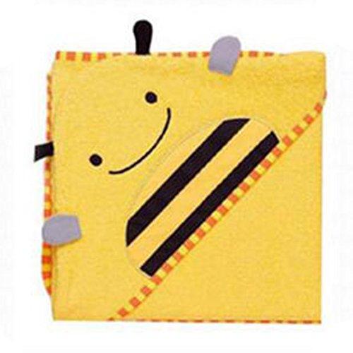 juleya-fumetto-dei-bambinidi-accappatoio-tovagliolo-di-bagno-del-capo-hollded-cotton-yellow-bee