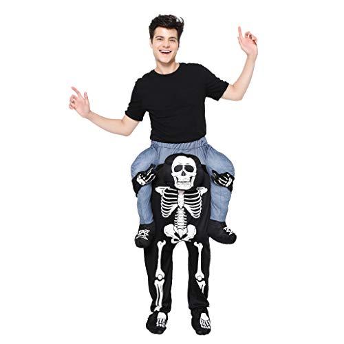 EraSpooky Disfraz de Esqueleto Adulto Disfraz Cosplay Fiesta de Halloween Traje Divertido para Hombres Mujeres