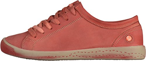 Softinos Isis washed leather, Derbies à lacets femme Rouge