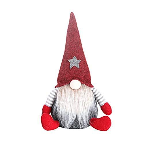 Dasongff schwedische Wichtel Santa Dolls süße Weihnachten Tomte Nisse Figur aus Weihnachtsfigur Dwarf schöneren Weihnachts Deko für Home Schaufenster Kinder Geburtstag Weihnachten