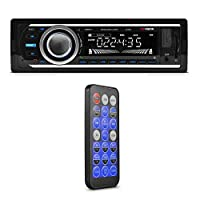 Car Stereo, XO Vision Wireless Bluetooth Car Stereo Receiver with 20 watts x 4, USB Port, SD Card Slot, and MP3 and FM [ XD107 ]