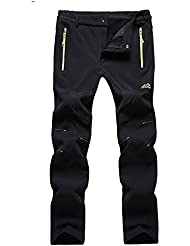 Hommes d'hiver Pantalon chaud thermique ¨¦tanche Bottom Polaires ski randonn¨¦e p¨¦destre Pantalons Pantalon de surv¨ºtement avec poches